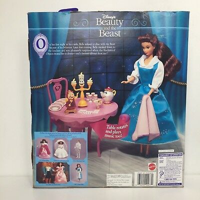 "Rare 1993 Disney's Beauty and the Beast ""Be Our Guest"" Musical Gift Set' #10477"