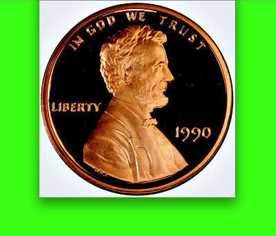 "1990 ""No S"" PCGS PR69 Deep Cameo ☗$19,975 APR☗ POP TOP! Lincoln Memorial Cent 1C"