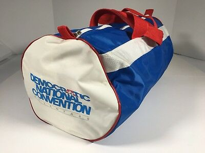 "Democratic National Convention 1988 Atlanta Duffle Bag AT&T 16""x 8"" Campaign Ad"