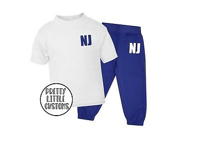 Personalised Kids initials tracksuit - joggers & t-shirt - 6 months to 6 years