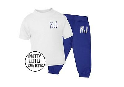 Personalised Kids initials tracksuit -joggers & t-shirt  set - style 3
