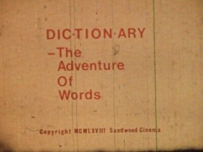 Dictionary The Adventure Of Words 1968 16mm short film