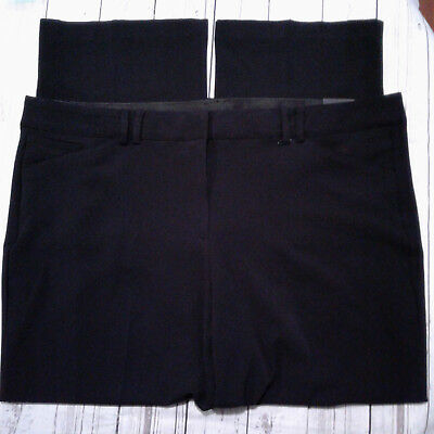 Women's Lane Bryant Pants Black The Sophie Straight Fit T3 Trousers Size 24R