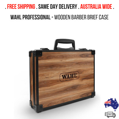 Wahl Wooden Barber Brief Case / AUS-FAST SHIPPING / SAME DAY DELIVERY!!