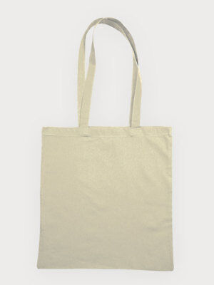 Natural Cotton Shopper Tote Bag - Set of 5, 10, 25, 50 and 100 - NEW