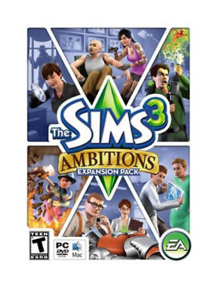 The Sims 3 Ambitions Expansion Pack PC WIN MAC EA Sports - New / Sealed