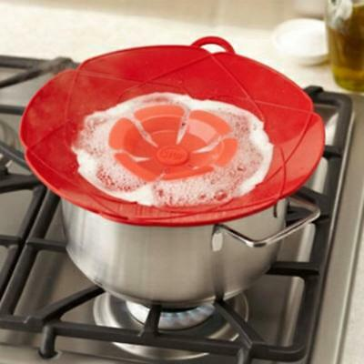 Steaming Silicone Spill-proof Pot Pan Cover Boil Overflow Splash Resistant Lid