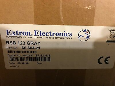 Extron Electronics Basi Rack Shelf RSB 123 GRAY, 60-604-21 New- never used
