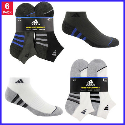 [NO TAX]   6 Pack, adidas Men's Low Cut Sock, Black & White