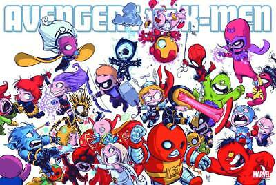 AVENGERS VS X-MEN BY Skottie Young New Rolled POSTER 24x36 Marvel Comics 2017
