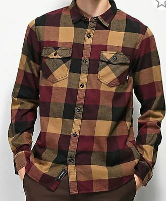 f9fc298642 Vans BOX FLANNEL Boys Youth Button Front Flannel Shirt Med. Port Royale NEW  2018