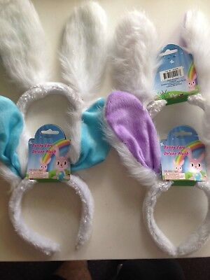 4 x Easter bunny Ears  soft touch one size fits most 28cm x 28cm