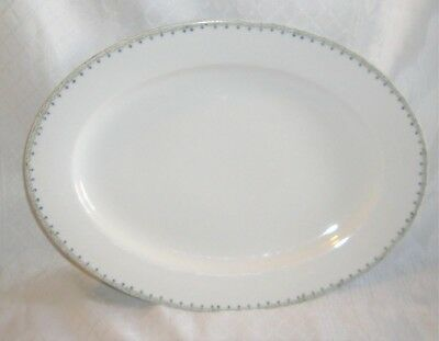 Vtg 1884-1909 M-Z AUSTRIA Antique Large Serving Platter,White,Blue Floral Tray