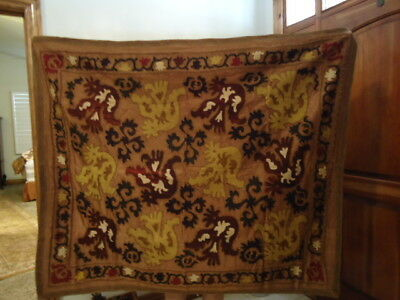 Antique Turkish Embroidered Suzani, Brown Shades, Wool and Silk