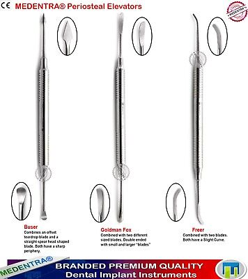 Dental Implant Periosteal Elevators Sinus Lifting Soft Tissue Flaps Buser Freer