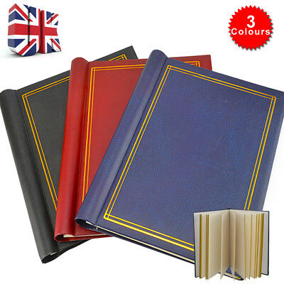 3XLarge Self Adhesive Photo Album Total 60 Sheets 120 Sides  Red &Blue & Black