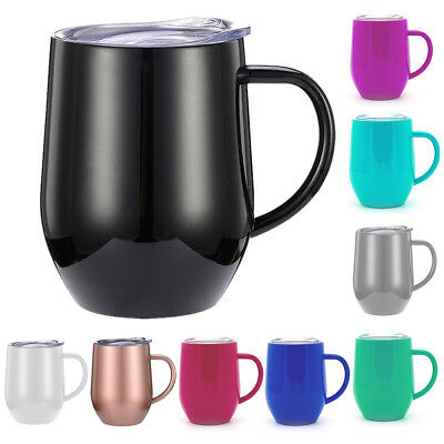 Tea Coffee Mug Double Wall Stainless Steel Cup Travel Insulated HOT SALE