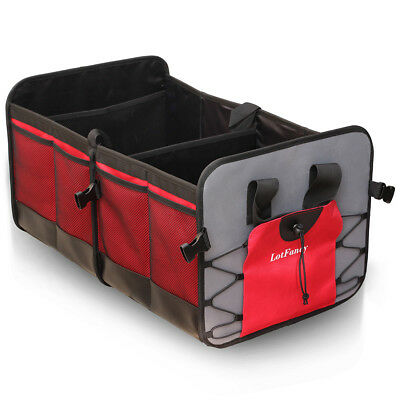 Car Trunk Organizer Folding Storage Collapse Bag Shopping Basket SUV Container