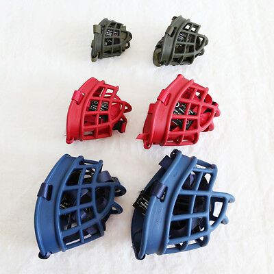 Safety Dog PET Basket Muzzle Soft Silicone Mesh Cage No Barking Biting Chewing