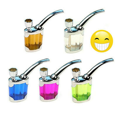 1x Portable Mini Water Smoke Pipe Hookah Bong Smoking Tobacco Glass Bubbler Gift