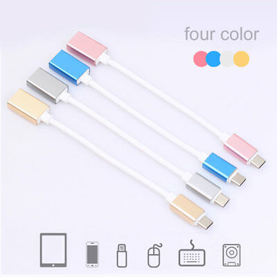 Micro USB Type C to USB Adapter OTG Data Charger Sync Charging Cable 4 Colors YZ