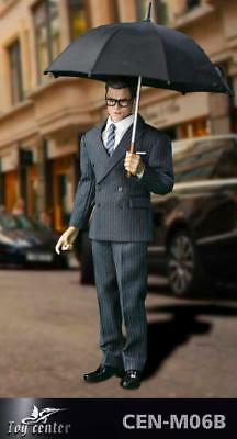 In-stock 1//6 Scale Toy Center Spy's Leather Clothing Suit