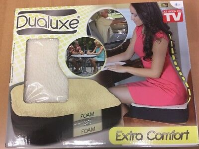 Dualuxe Gel Cushion.  Sit In Comfort For Hours!!  Brand New In Box. Free Postage