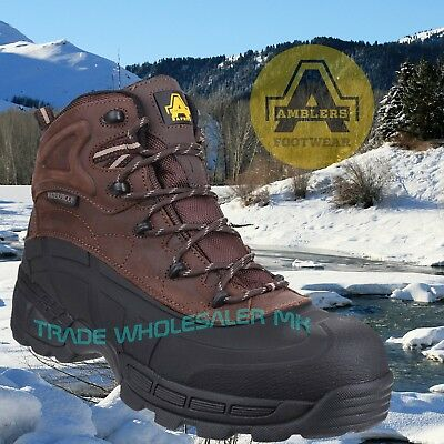Amblers FS430 Orca S3 Waterproof Safety Work Boot Brown Lightweight Composite