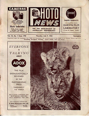 Vintage PHOTO NEWS for Australian Photography ~ July 7, 1955 Vol. 14, No. 1 -170