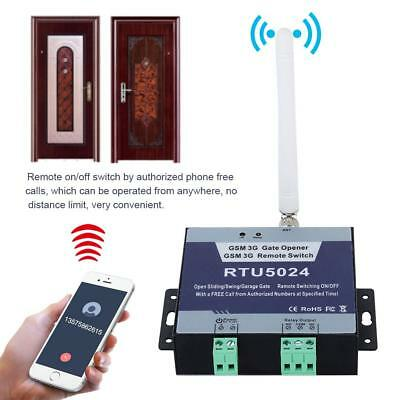 GSM Door Gate Opener Wireless Remote On/Off Switch Free Call SMS Command RTU5024
