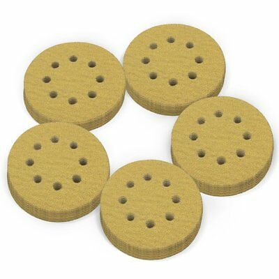 5in 220 Grit Dustless Hook-and-Loop Sanding Discs Orbital Sander Pad Sandpaper