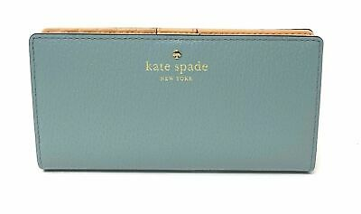 Kate Spade Grand Street Stacy Lakesedge Leather Wallet WLRU2153