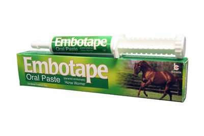 EMBOTAPE HORSE WORMER 40% w/w oral paste- SINGLE, OR PACKS OF 2 OR 4 AVAILABLE