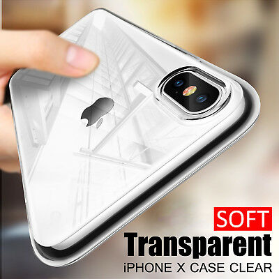 For iPhone XR XS Max XS 8 Clear Transparent Case Shock Absorption TPU Soft Cover