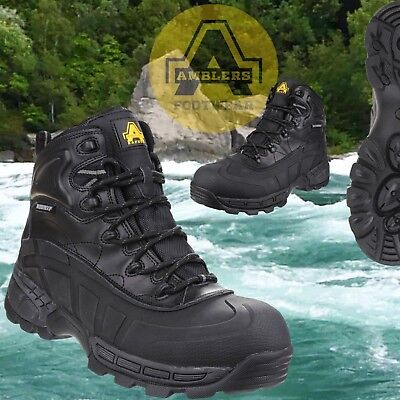 Amblers FS430 Orca S3 Waterproof Safety Work Boot Black Lightweight Composite