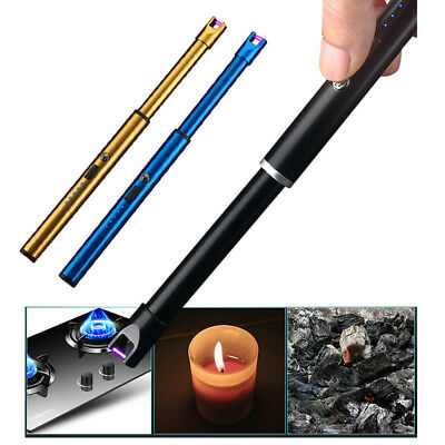Electric Arc Atomic Candle Lighter USB Rechargeable Kitchen Lighters Long Handle