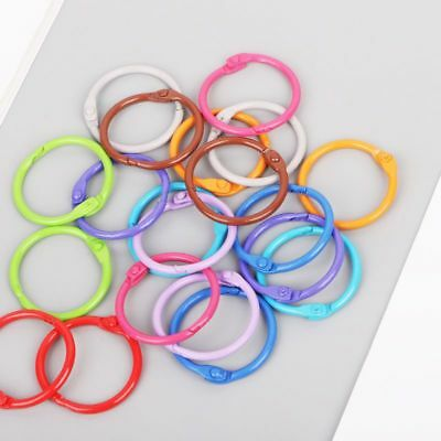 Craft 10pcs Metal Loose Leaf Binder Ring Book Hoops DIY Albums School Supplies