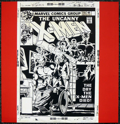 X-Men Poster Page . 1978 Cover Art By John Byrne . Marvel Comics . M6