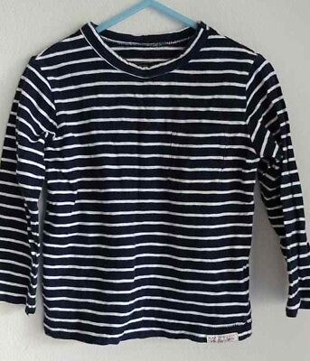 Baby Gap Lived In Boys Top Sz. 2 T Blue and White Striped