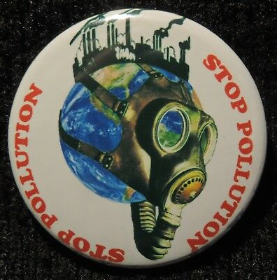 Pin Button Badge Ø38mm Stop Pollution