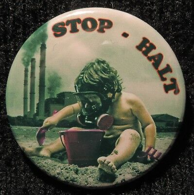 Pin Button Badge Ø38mm Stop -  Halt