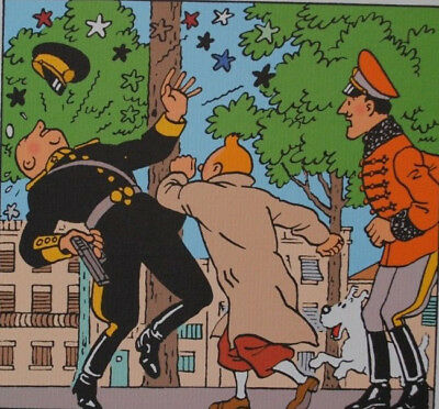 HERGE (by) - TINTIN the sceptre Ottokar's - 3 Lithographs EXLIBRIS #2011