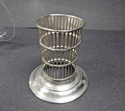 Antique Sterling Silver Pieced Vase Holder, Watson 1800's.. 30 grams