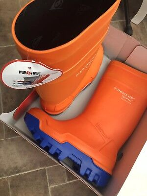 Dunlop Purofort Thermo Safety Wellies Welly Wellington Boots Insulated Orange