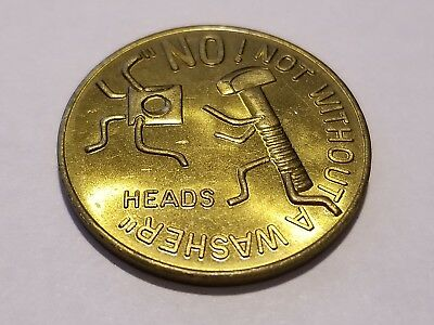 "Comic Coin Heads or Tails ""No not without a washer, Plug me in I'm Electrifying"""
