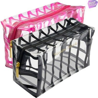 Portable Travel Cosmetic Makeup Bag Toiletry Zipper Organizer Storage Case Pouch