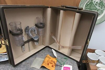 the original california travel bar case with lock and key / vintage