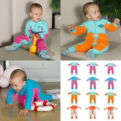 49b747079 Baby Mop Romper Toddlers One-piece Crawling Clothes Floor Cleaning Outfits