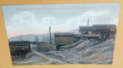 Gauley Mountain Coal Co. Mine Tipple Crusher Slack Bins Ansted WV. Postcard Repo