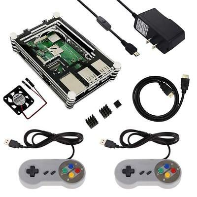 Retro Game Kit, Case for Raspberry Pi 3/ 3B+(B Plus), with HDMI .5A Power Supply
